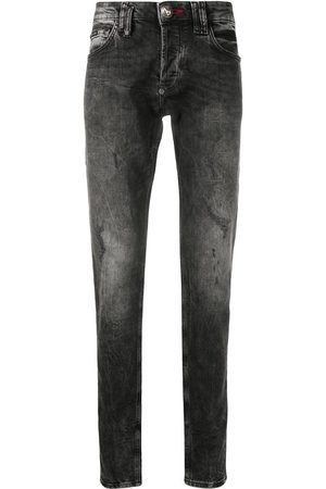 Philipp Plein Outline Skull Straight Cut jeans