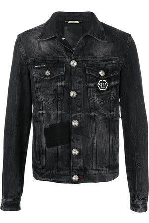 Philipp Plein Logo denim jacket