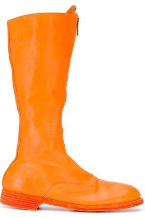 GUIDI High-leg leather boots