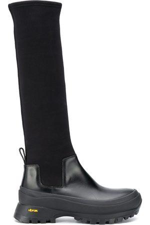 Jil Sander Panelled-design knee-high boots