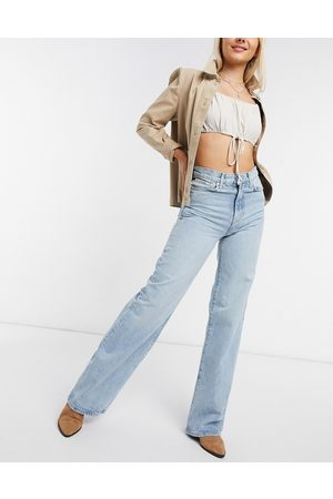 Free People Astoria wide leg jeans in blue