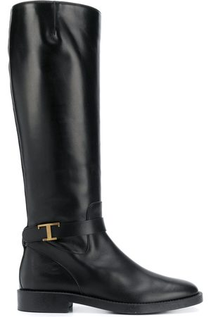 Tod's Logo plaque knee-high boots