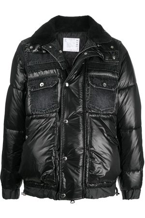 SACAI Padded jacket with denim detailing
