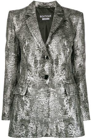 Moschino Metallic-effect blazer