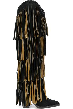 Dsquared2 Fringed knee length boots