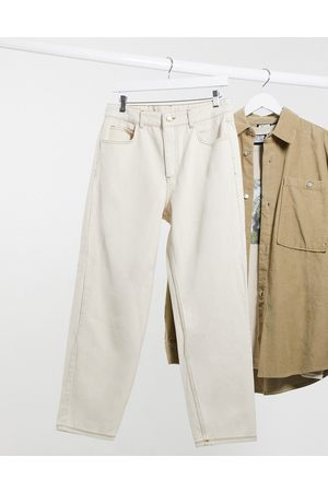 Reclaimed Vintage Inspired classic fit jeans in ecru-Cream