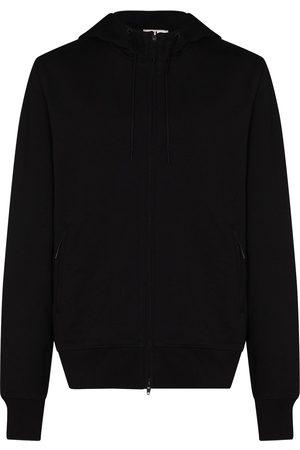 Y-3 Cotton jersey zip-up logo hoodie