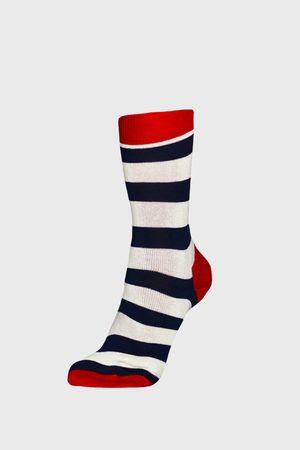 Happy Socks Ponožky Stripe modročervené