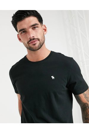 Abercrombie & Fitch Icon logo crew neck t-shirt in black