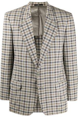 VALENTINO 1980s checked slim-fit blazer
