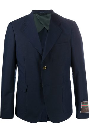 Gucci Label single-breasted blazer