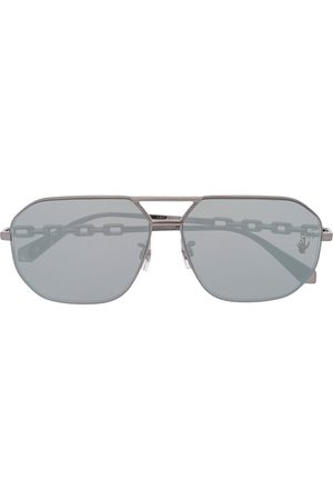 OFF-WHITE METAL SUNGLASSES DARK GREY NO COLOR