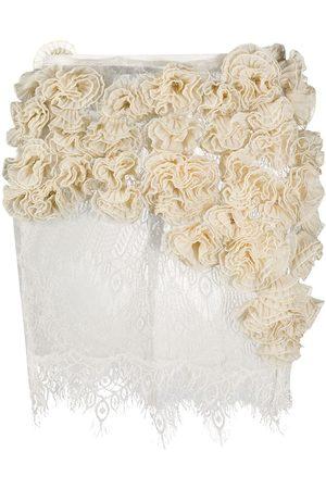 Dolci Follie Applique lace skirt