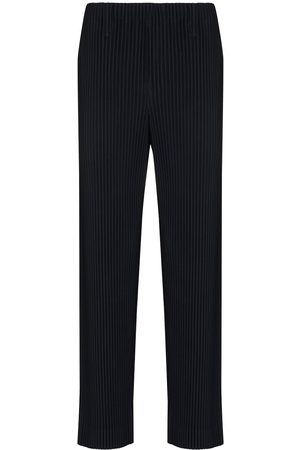 HOMME PLISSÉ ISSEY MIYAKE Pleated Straight Leg Trousers