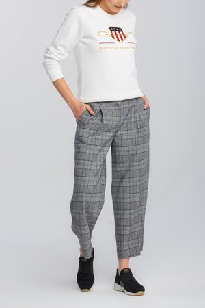 GANT Kalhoty D1. Checked Cropped Wide Pant