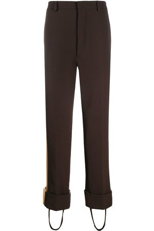 Prada Side-stripe stirrup trousers