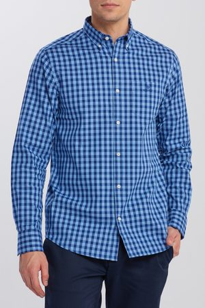 GANT Košile D1. Oxford Striped Gingham Reg Bd