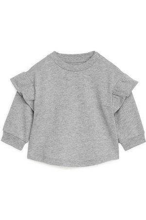 Arket Frill Sweatshirt - Grey