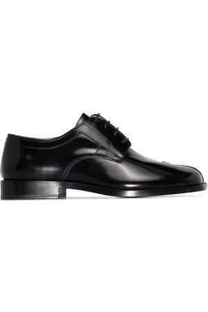 Maison Margiela Black Tabi leather Derby shoes
