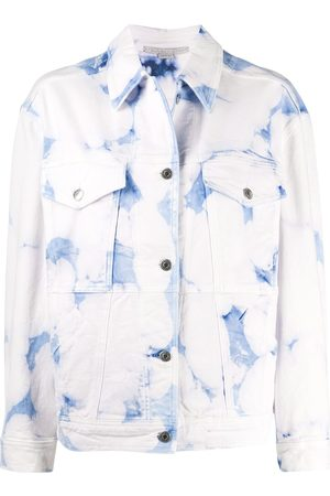 Stella McCartney Acid wash denim jacket