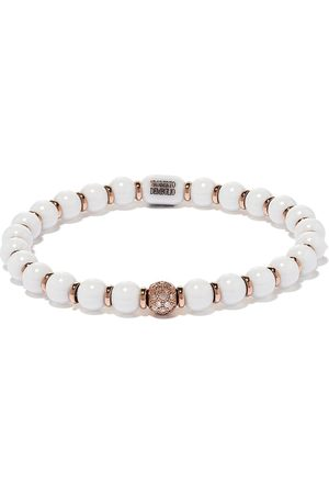 ROBERTO DEMEGLIO 18kt rose gold, diamond and white ceramic bracelet