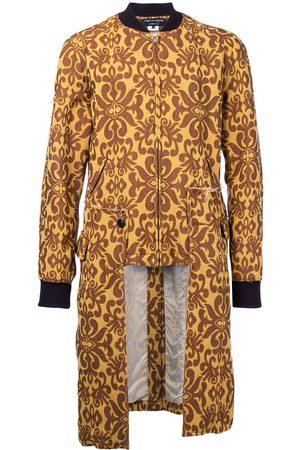 Comme des Garçons Embroidered brocade kilt coat