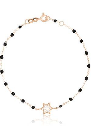 GIGI CLOZEAU 18kt rose gold diamond star beaded bracelet