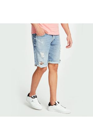 Guess Muži Šortky - Pánské modré trhané šortky