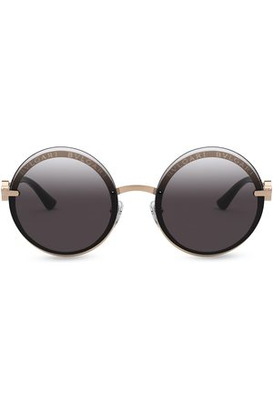 Bvlgari On-Me round metal sunglasses