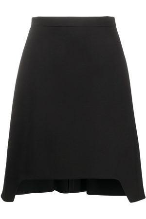 Alexander McQueen Cut-out hem flared skirt