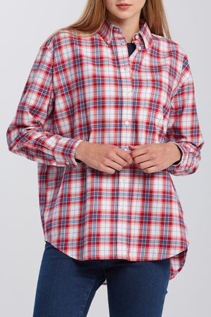 GANT Košile D2. Flannel Check Relaxed Shirt