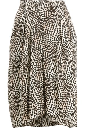 Isabel Marant Abstract-print asymmetric hem skirt