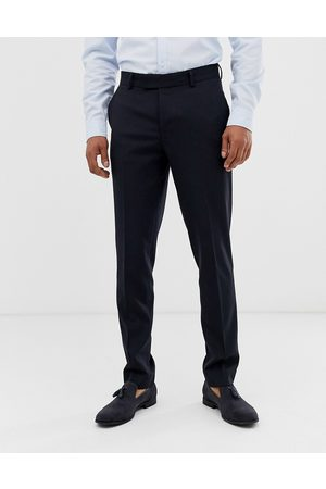 ASOS Muži Chino - Skinny smart trousers in navy