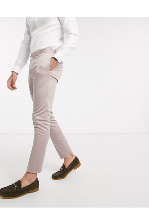 ASOS DESIGN Wedding super skinny suit trousers in stretch cotton in mink-Purple