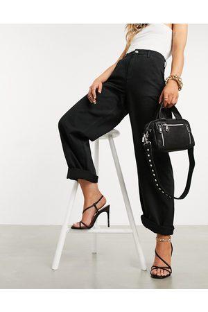 ASOS Ženy Chino - Slouchy chino trouser in black