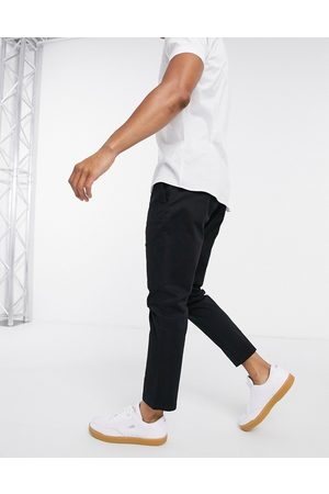 Only & Sons Muži Chino - Cropped chino slim fit black