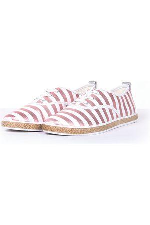 Guess Ženy Tenisky - Dámské bílo růžové pruhované tenisky