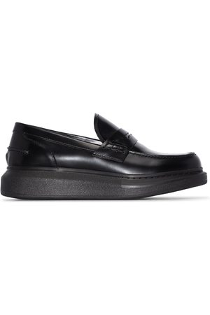 Alexander McQueen Black Hybrid leather loafers