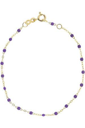 GIGI CLOZEAU 18kt yellow gold Classic Gigi mauve beaded bracelet