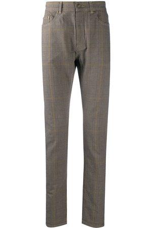 Saint Laurent Micro check skinny trousers