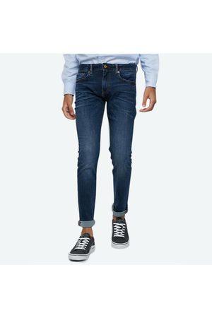Tommy Hilfiger Muži Džíny - Pánské tamvě modré džíny Layton