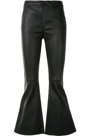Drome Bell-flare leather trousers