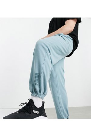 PUMA Plus oversized joggers in washed blue - exclusive to ASOS