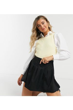 Daisy Street Mini pleated tennis skirt-Black