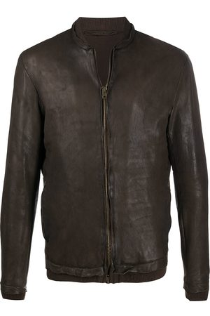 SALVATORE SANTORO Leather bomber jacket
