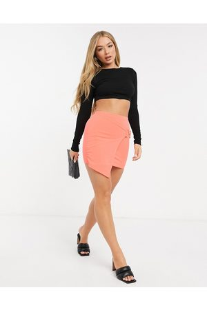 I saw it first Buckle asymmetric skirt in orange