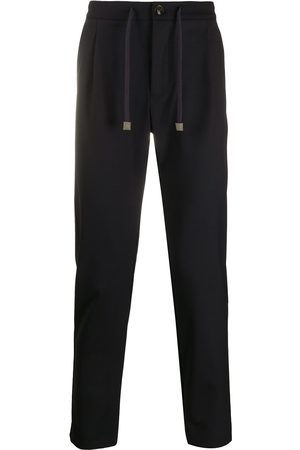 ELEVENTY Drawstring wool-blend trousers