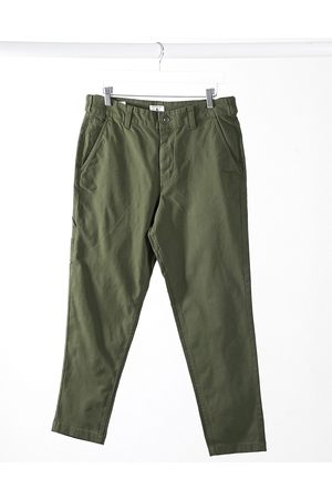 Jack & Jones Intelligence carrot fit carpenter trouser in khaki-Green