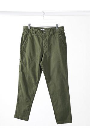 Jack & Jones Muži Chino - Intelligence carrot fit carpenter trouser in khaki-Green