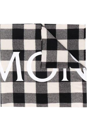 Moncler Logo print checked scarf